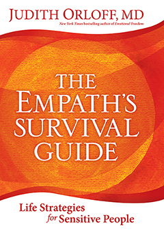 the cover of judith's book, empath survival guide