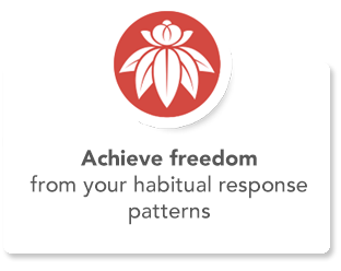 Achieve freedom from your habitual response patterns