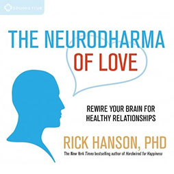the cover of Rick Hanson's The Neurodharma of Love Course that has a silhouette of a profile