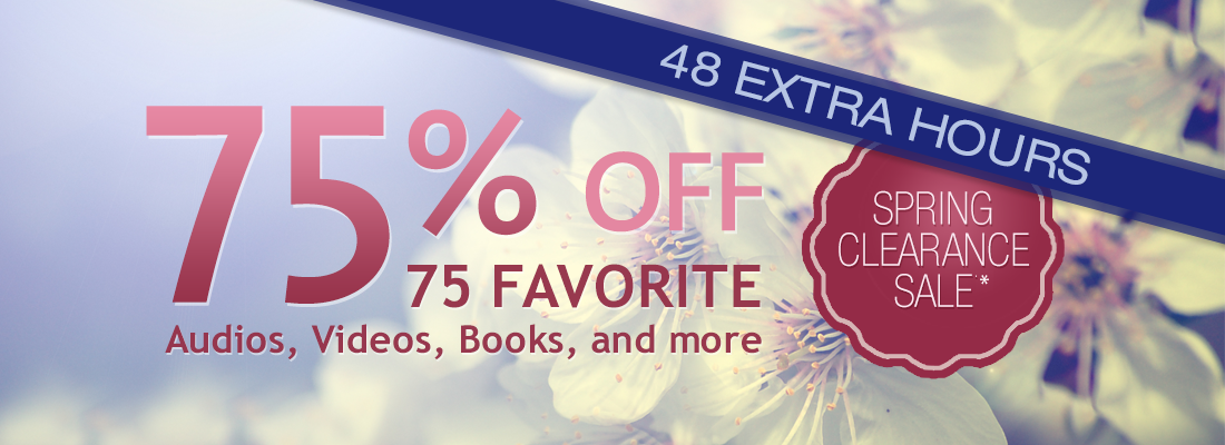 Spring Clearance Sale - 75% Off 75 Favorites - 48 Extra Hours!