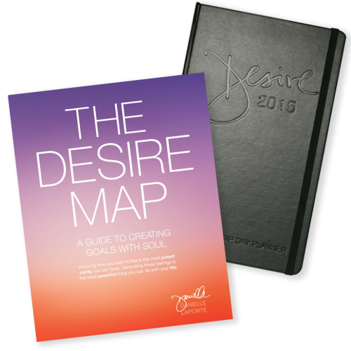2015 Desire Map Day Planner and The Desire Map book Combo