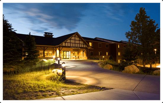 Longs Peak Lodge at Twilight