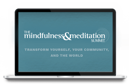 Mindfulness and Meditation Summit pictured on multiple devices