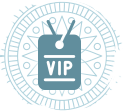graphic of a VIP pass