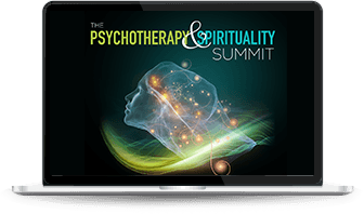 Psychotherapy and Spirituality image on a laptop
